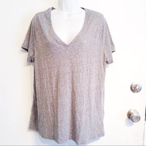 🌟5 for $25🌟 Plus Size Grey V Neck Tee